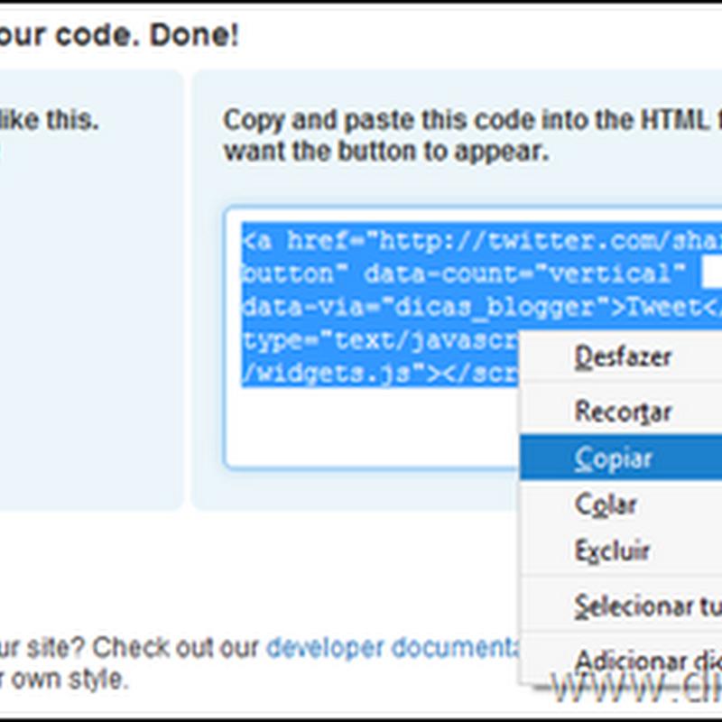 Como colocar o Tweet Button no Blogger