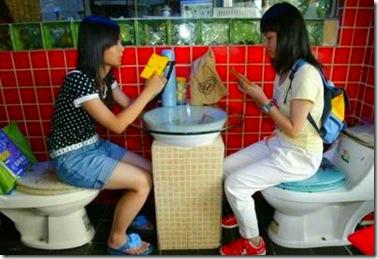 ristorante cinese a tema: stanza da bagno!