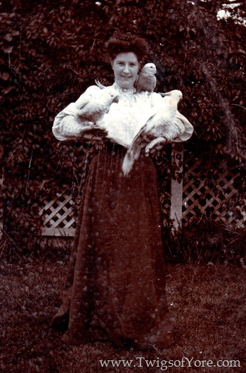 May Black (1881-1951) and her feathered friends