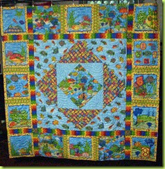 Quilt Patterns Made With Panels : Melinda Quilts etc: Customer Quilt Made From Book Panel