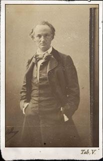 Félix Nadar.  Baudelaire  entre 1854 et 1860. Musée d'Orsay, Paris, France  ©photo musée d'Orsay