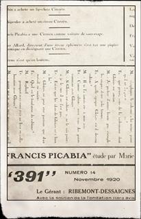 391. París: n.14, noviembre 1920. Editada por Francis Picabia. Pulse para ver la imagen completa