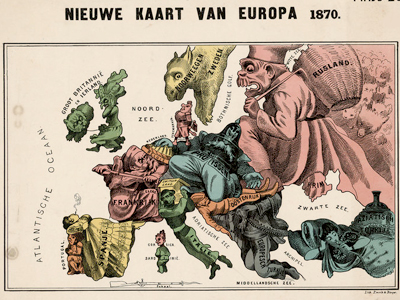 Map Of Europe 1870