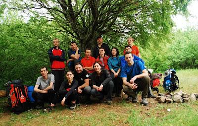 participanti la atelierul de alpinism si escalada AMC din Macin