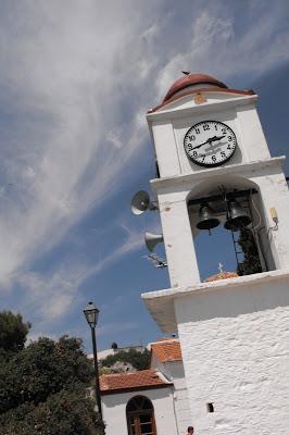 Grecia - Skiathos - Biserica cu ceas