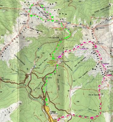 harta Ciucas - trasee montane