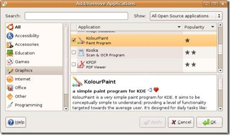 Ubuntu AddRemove Applications Applet