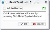 choqoK Quick tweet dialog