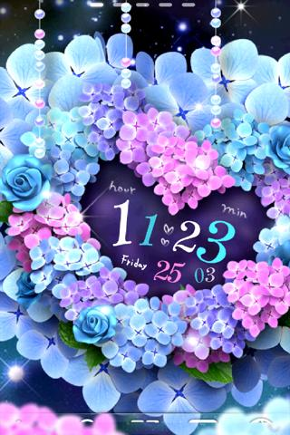 Hydrangea-紫陽花 ライブ壁紙