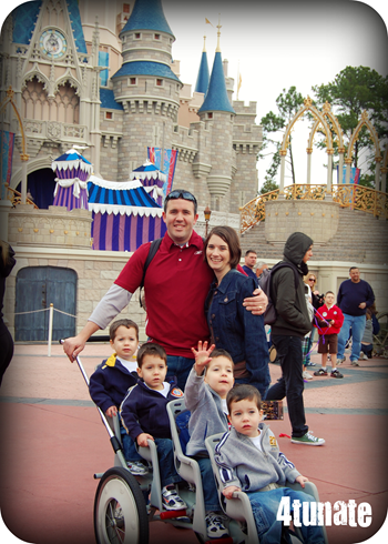 disney castle family pic
