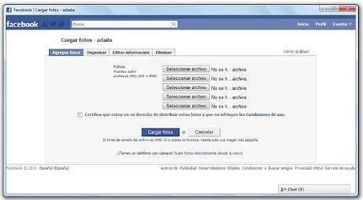 greenshot 2010 04 05 09 34 02 Cómo subir fotos a Facebook desde Firefox, Opera o Chrome