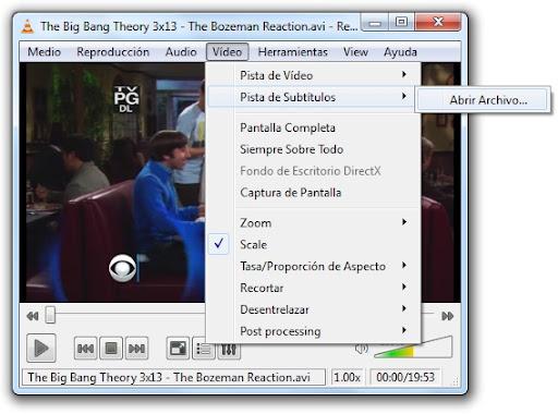 greenshot 2010 04 19 09 52 38 Cómo hacer que VLC reconozca los subtítulos