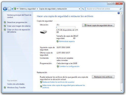 0 Cómo hacer una copia de seguridad con Windows 7