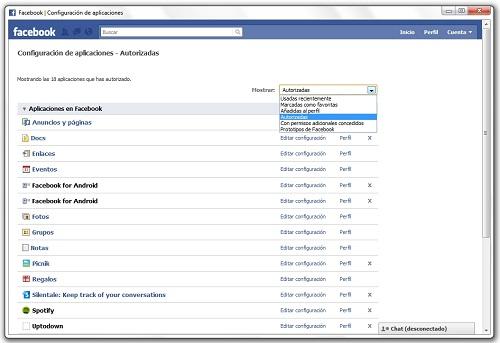 greenshot 2010 07 19 10 30 31 Cómo desinstalar una aplicación de Facebook