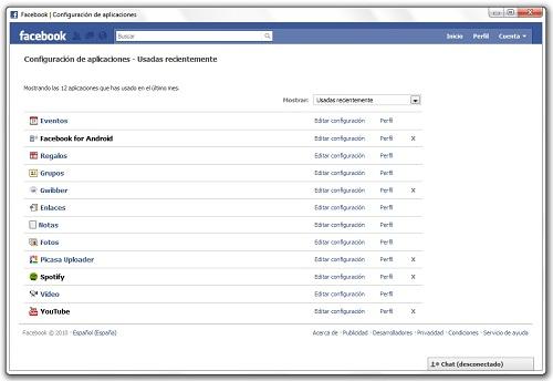 greenshot 2010 07 19 10 29 34 Cómo desinstalar una aplicación de Facebook