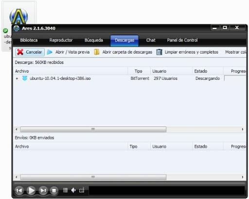 greenshot 2010 09 23 09 45 24 Cómo descargar archivos Bittorrent desde Ares