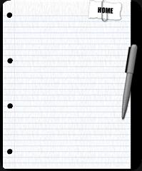 folha de papel homepen