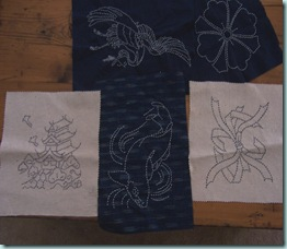 sashiko pieces