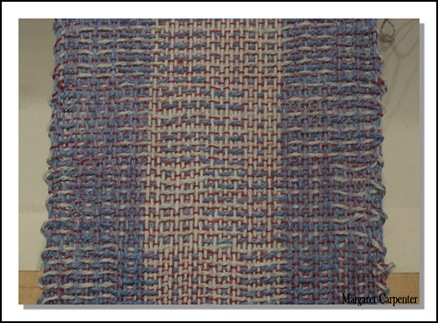 crackle treadled in twill sequence