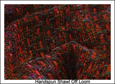 Handspun shawl off loom