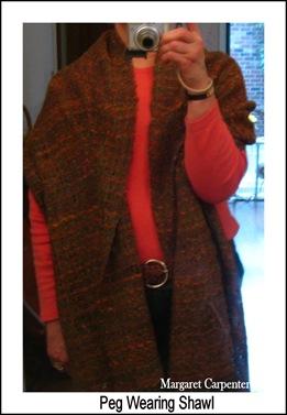 Peg Wearing Shawl
