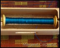 Turquoise binder weft
