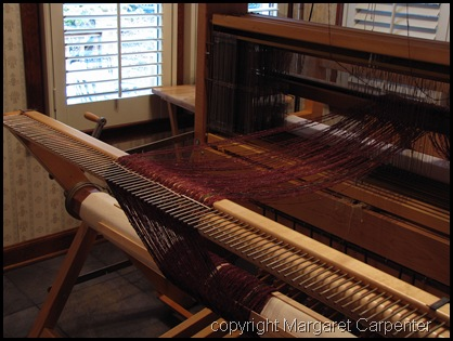 warp at back of loom