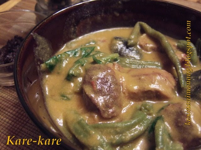how to make peanut sauce for kare kare