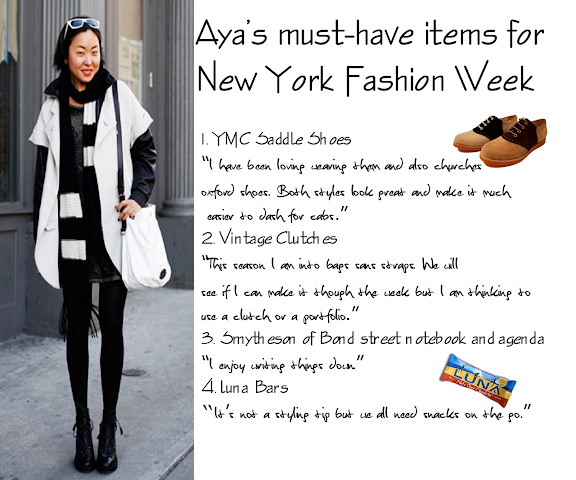 Aya Kanai items for new york fashion week fall 2010