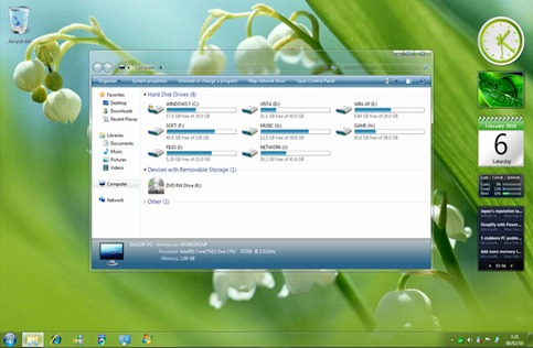Clear Glass 7 Theme/Tema Untuk Windows 7