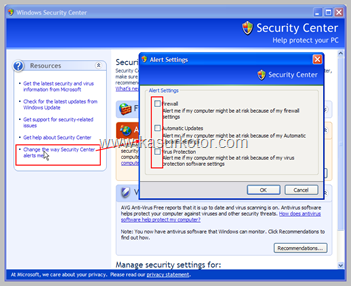 Cara Menghilangkan Windows Security Alert dari Sytem Tray