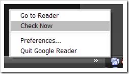 Google Reader Notifier Untuk Item Yang Belum Terbaca