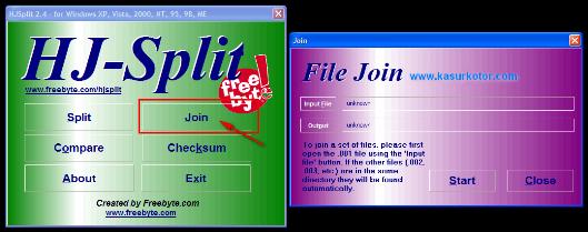Cara Menggabungkan / Membuka File *.001 dengan HJSplit