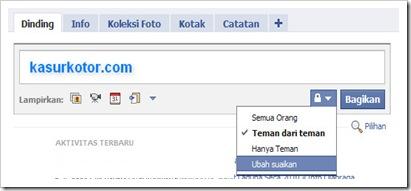 Menyembunyikan Status Facebook dari Teman Tertentu