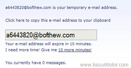 Akun email sementara