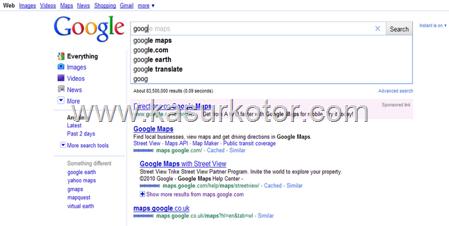 Mematikan Fitur Google Instant Search