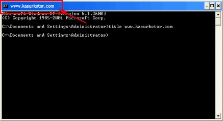 Trik Mengganti Title Di Command Prompt