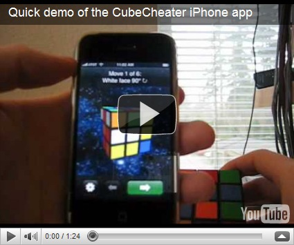 CubeCheater solves Rubik's Cube on your iPhone