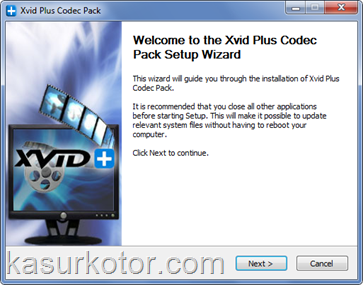Memutar File Media XviD, H.264, FLV, DivX, MKV/MKA, x264, HD-MOV dengan Xvid Plus Codec Pack