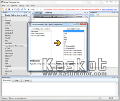 Membuat Batch Files Menggunakan Visual Command Line