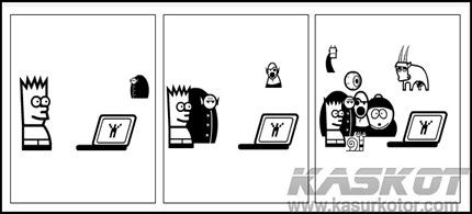 Membuat Komik Strip Hitam Putih