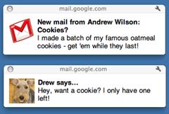 Pemberitahuan Untuk Email dan Pesan Chat Baru di Desktop dari Gmail