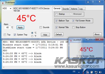 Mengetahui Suhu/Temperatur Hard Disk dengan DiskAlarm