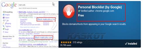 Google Meluncurkan Ekstensi untuk Membantu Block Spam di Hasil Pencarian