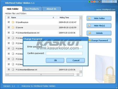Menyembunyikan Folder dari User Lain - WinMend Folder Hidden