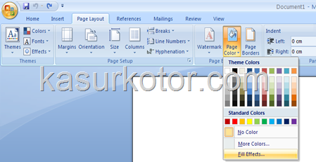 Membuat Gambar Sebagai Background di MS Office Word