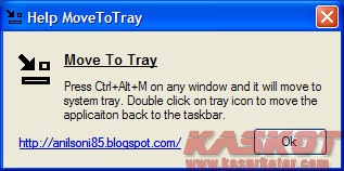 Memindahkan Program di Taskbar Ke System Tray - Move To Tray