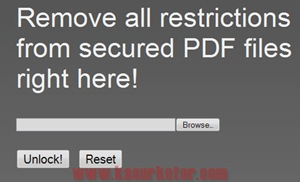 Remove all restrictions from secured PDF files