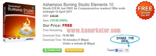 Download Ashampoo Burning Studio Elements 10 + Lisensi Gratis