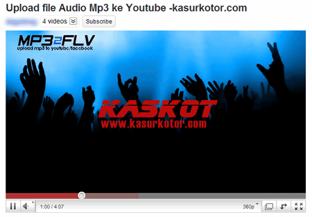 Upload Mp3 ke Youtube 2